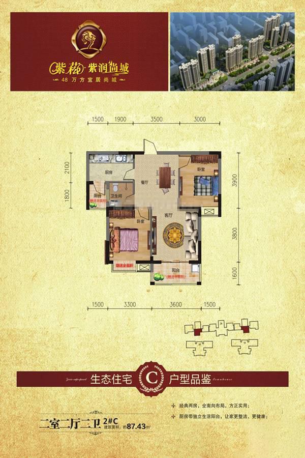 2#C户型紫崧·紫润尚城