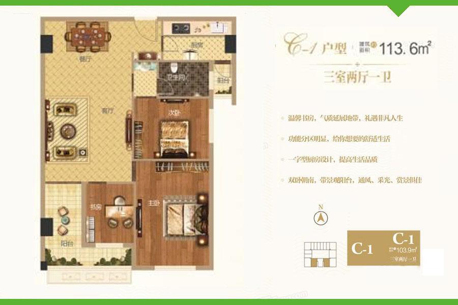 C1户型爱普·天瑞公馆
