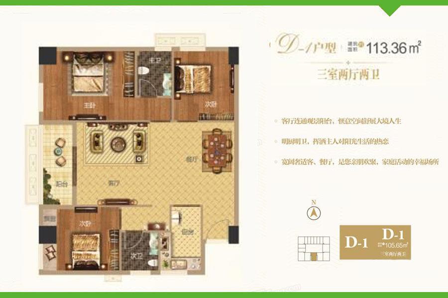 D1户型爱普·天瑞公馆