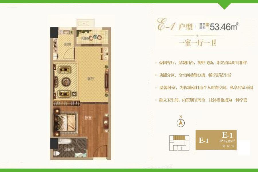 E1户型爱普·天瑞公馆