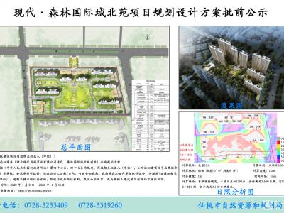 现代森林国际城北苑项目规划设计方案批前公示