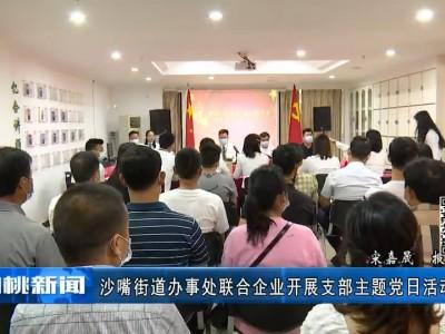 沙嘴街道办事处联合亿合地产等企业开展支部主题党日活动
