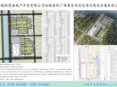 仙桃吾悦广场商业及住宅项目规划方案批前公示